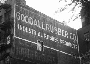 Goodall Rubber Co sign in Tribeca