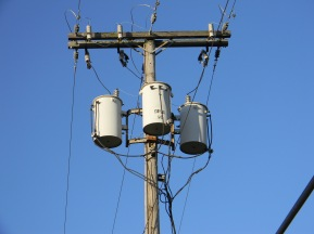 Telephone Pole, Gary, 2013