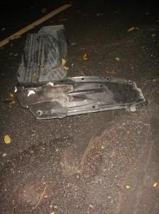 scrap in parking lot